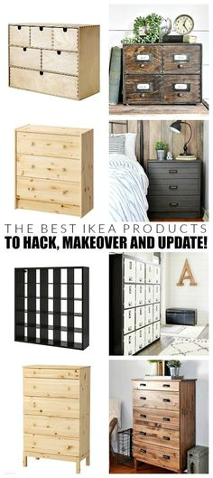 Are you a fan of IKEA? What about IKEA hacks? Today, I'm sharing my favorite IKEA products that you can easily update and hack to create beautiful customized furniture and decor. Raw Wood Furniture, Retro Furniture, Home Furniture, Cheap Furniture, Outdoor Furniture, Urban Furniture, Furniture Logo, Furniture Design, Furniture Stores
