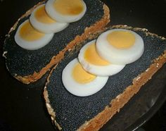 I prepared my husband eggs and caviar. It's a typical Scandinavian food and he loves Norwegian caviar. My son also love it too but It's not my kind of food.