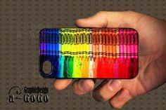 Cute Neon Rainbow iPhone 4s Case for Cute Girls