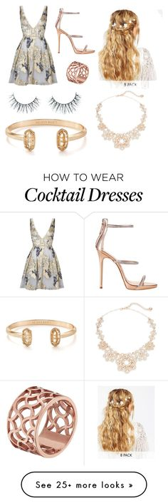 """loving the heat"" by simplymollyrose on Polyvore featuring Notte by Marchesa, Giuseppe Zanotti, ASOS, Unicorn Lashes, Tartesia, Kate Spade and Kendra Scott"