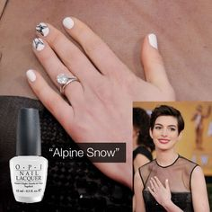 Get Anne Hathaway's 2013 #SAG Awards look with #OPI #AlpineSnow