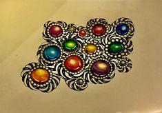 Gems,zentangle,doodle