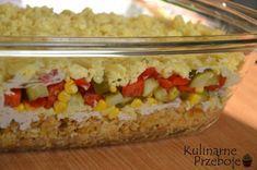 Zapiekanka ryżowa Kebab Gyros to danie, które chodziło za mną już od dłuższego czasu :) Robi się ją w miarę szybko, a plusem jest na pewno to, że można przygotować ją dzień wcześniej, a dnia następnego, gdy nie mamy czasu na pichcenie w kuchni, to tylko szybko ją odgrzać i zjeść :) Jeśli lubicie zapiekanki, to polecam Wam również: Zapiekankę makaronową z warzywami i mozzarellą wg Pascala oraz Zapiekanka makaronowa z serem pleśniowym Zapiekanka ryżowa Kebab Gyros – Składniki: 2 woreczki ry Kebab, Iranian Food, Middle Eastern Recipes, Poached Eggs, Food Presentation, Food Plating, Macaroni And Cheese, Main Dishes, Food Photography
