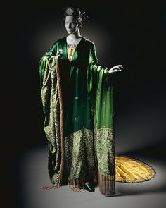 Erté (Romain de Tirtoff) (Russia, St. Petersburg, 1892-11-23 - 1990)   Costume for Ganna Walska as Floria Tosca in 'Tosca', Act II; Woman's Gown with Shawl and Crown, 1920
