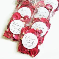 Wedding Petal Toss Packets - Flower Confetti Bags - Dried Rose Petals, Lavender Buds, Pink, Ivory, R