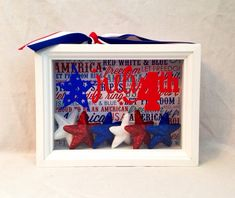 4th of July Shadow box by BlocksPaperPaint on Etsy, $20.00