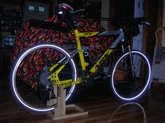 DIY Indoor Bicycle Trainer Stand (to use your regular bike as a stationary bike) around $15