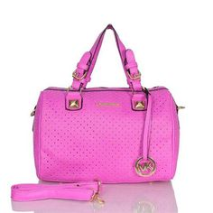 Michael Kors Perforated Medium Purple Satchels