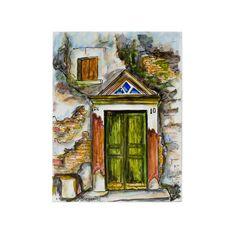 (Ελληνικά) Χειροποίητος πίνακας ζωγραφικής με τοπίο πάνω σε ξύλο ζωγραφισμένο με λαδομπογιάδες Landscape Paintings, Greek, Places, Handmade, Art, Art Background, Hand Made, Kunst, Landscape