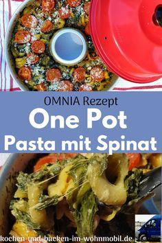 Pot Pasta, One Pot, Mozzarella, Meat, Chicken, Food, Chicken Pasta, Pasta With Spinach, Rv