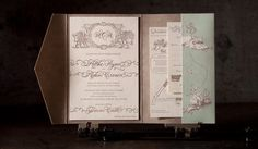 formal wedding invitation, no. 12824   Boxcar Press letterpress printing