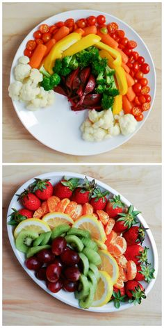 Taste the (healthy) rainbow. Healthy Eating For Kids, Healthy Snacks, Healthy Recipes, Eat Healthy, No Cook Meals, Kids Meals, Cute Food, Good Food, Healthy Food Delivery