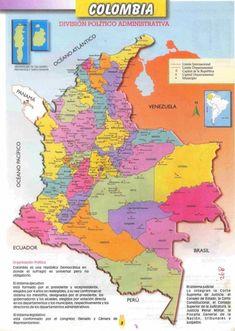 Información e imágenes con Mapas de COLOMBIA Político, Físico y para Colorear Ecuador, Gomez, Diagram, World, Wanderlust, Map Of Colombia, Learning Disabilities, Colouring In, Venezuela