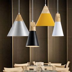Cheap pendant lights, Buy Quality simple pendant light directly from China nordic modern Suppliers: Nordic Modern Simple Pendant Lights Living Room Coffee Shop Lamps Aluminum AC85-265V White Black Grey Yellow Dinning Lighting