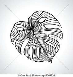 palm leaf print vectors - Google Search