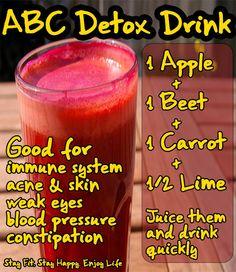 ABC #Detox Drink #recipe