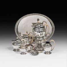 Art Nouveau & Design - im Kinsky Auktionshaus Koloman Moser, Coffee Service, Art Nouveau Design, Design Ideas, Engagement Rings, Tea, Glass, Jewelry, Enagement Rings