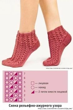 Beginner Sewing Patterns, Fair Isle Knitting Patterns, Knitting Stiches, Sewing For Beginners, Lace Knitting, Knitting Socks, Knit Crochet, Crochet Shoes Pattern, Shoe Pattern