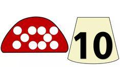 Математические мухоморчики Numbers Preschool, Math Numbers, Letters And Numbers, Number Puzzles, Puzzles For Kids, Math Games, Preschool Activities, Funny Kids, Kindergarten