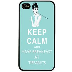 Keep calm and have breakfast at Tiffanys iphone 4 case, Tiffany iphone 4s case, iphone cover, keep calm iphone