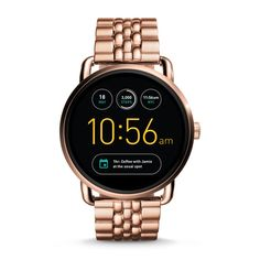 Fossil Q Gen 2 Wander Rose Gold-Tone Stainless Steel Bracelet Touchscreen  Smart Watch Jewelry   Watches - Watches - Macy s 3440ca2215