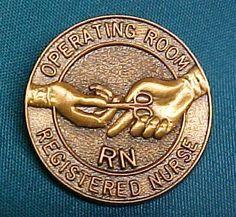RN Operating Room Nurse Emblem Lapel Pin 5052 NWT