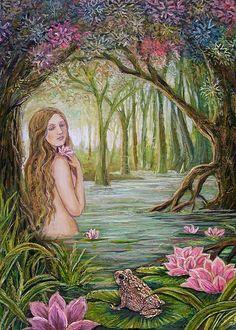 The Good Omen - Fairy Tale Goddess Art 5x7 Greeting Card