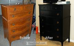 life with the 5: Black Painted Dresser