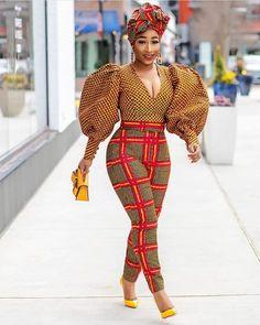 African print African wax Ankara 2 piece suit African print blouse and pants - African fashion African Inspired Fashion, Latest African Fashion Dresses, African Print Dresses, African Print Fashion, Africa Fashion, African Dress, African Print Top, African Prints, African Fashion Designers