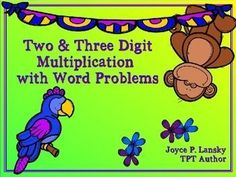 Newly revised with fonts, clipart, and ON SALE for off until July Math Lesson Plans, Math Lessons, Elementary Math, Upper Elementary, Math Classroom, Future Classroom, Multiplication Worksheets, Thing 1, Three Words