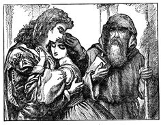 Friar Lawrence marries Romeo and Juliet