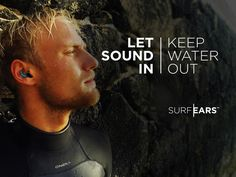 SurfEars by Frankly Development — Kickstarter.  Let sound in - keep water out.