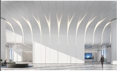 Lobby Interior, Flat Interior, Office Interior Design, Lobby Design, Hall Design, Ceiling Detail, Ceiling Design, Office Lobby, Counter Design