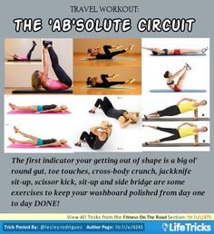 Fitness On The Road - Travel Workout: The 'Ab'solute Circuit
