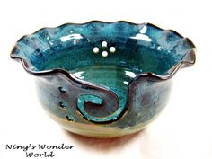 Pottery Yarn Bowl large knitting bowl  - LOVE THIS!  Want one.