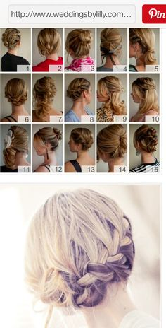 Braided hair style for long hair braids/bop