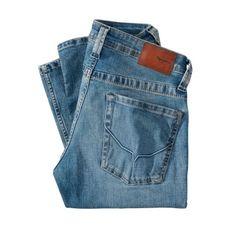 Jeans Cash, Straight Leg, Used-Look Rückansicht