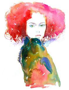 Cheveux Rouge by Cate Parr at silverridgestudio.