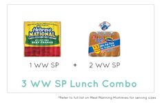 Weight Watcher Lunch Combo 5 - Meal Planning Mommies