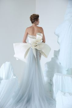COUTURE AUTUMN WINTER 2018/2019   NIKOLAI   NOT JUST A LABEL Couture Dresses, Fashion Dresses, Bridal Gowns, Wedding Gowns, Shrug For Dresses, Sheer Gown, Colored Wedding Dresses, Plus Size Wedding, Beautiful Gowns