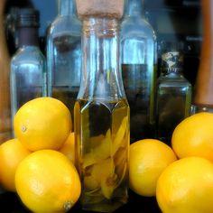 Meyer Lemon Week kicks off with Meyer Lemon Olive Oil Lemon Joy, Lemon Lime, Flavored Oils, Infused Oils, Meyer Lemon Recipes, Meyer Lemon Tree, Lemon Olive Oil, Household Cleaning Tips, For Love And Lemons