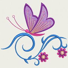 Crystal Butterfly 02 machine embroidery designs