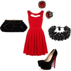 Love the dress and the shoes...
