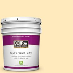 #ppl 69 Sunkissed Yellow Eggshell Enamel Zero VOC Interior Paint And Primer  In One, Yellows/Golds