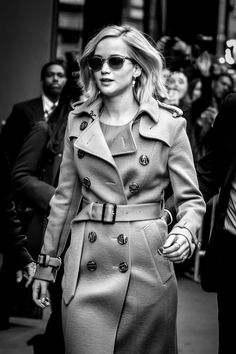 Jennifer Lawrence leaving the GMA Show this morning. Photo: @wagner_az