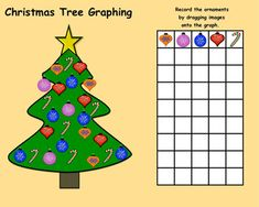 Interactive Smartboard Patterning/Graphing Activities for Christmas Theme Winter Christmas, Christmas Themes, Holiday Decor, Graphing Activities, K 1, Early Education, Shapes, Teaching, Ornament