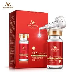 Sunfei 10ml Six Peptide Face Liquid Anti Wrinkle Collagen Repair Face Cream Liquid  ✿Product introduction: The natural skin care product for eye pattern,eye bags,crow's feet,expression lines,nasolabial folds,forehead wrinkles,rich in anti-aging cream six peptides, smooth wrinkles,use it steadily can improve skin laxity,aging,and increase the activity of elastin,resist aging,make skin smooth and elastic,restore the young state,enjoying youthful skin.  ✿Method of use: Clean face,apply pr...