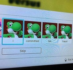 See more 'Yoshi Committed Tax Fraud' images on Know Your Meme! Stupid Memes, Stupid Funny, Haha Funny, Memes Humor, Funny Memes, True Memes, Reaction Pictures, Funny Pictures, Pokemon