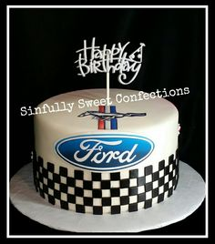 Ford Mustang Birthday Cake