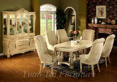Yuan Tai AV9648-SET-6- SET - Avignon Swan Table 7 Pcs Set - Chicago Furniture Store.